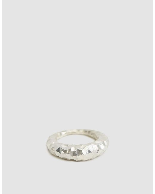All_blues - Metallic Carved Fat Snake Ring - Lyst