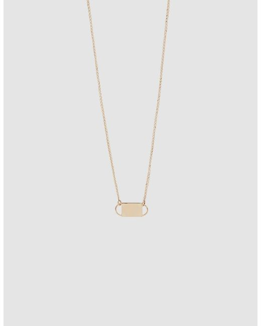 Loren Stewart - Metallic Choker Id Necklace - Lyst