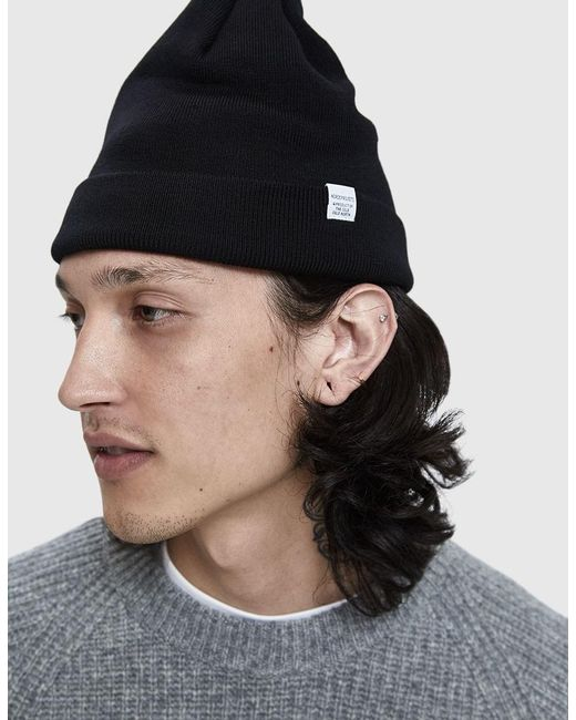d471fe71d91 ... Norse Projects - Black Norse Top Beanie for Men - Lyst ...