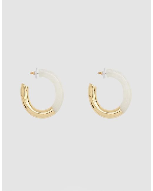 Lizzie Fortunato - White Summer Of Love Hoops In Ivory - Lyst