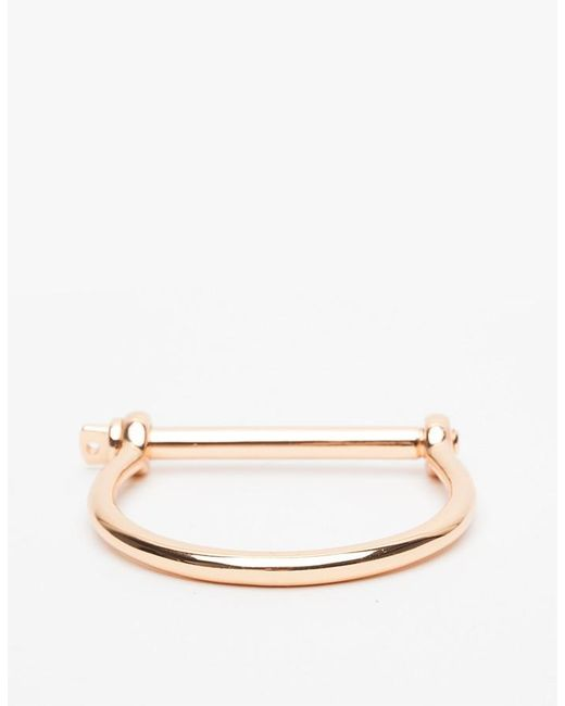 Miansai | Pink Rose Gold Screw Cuff | Lyst