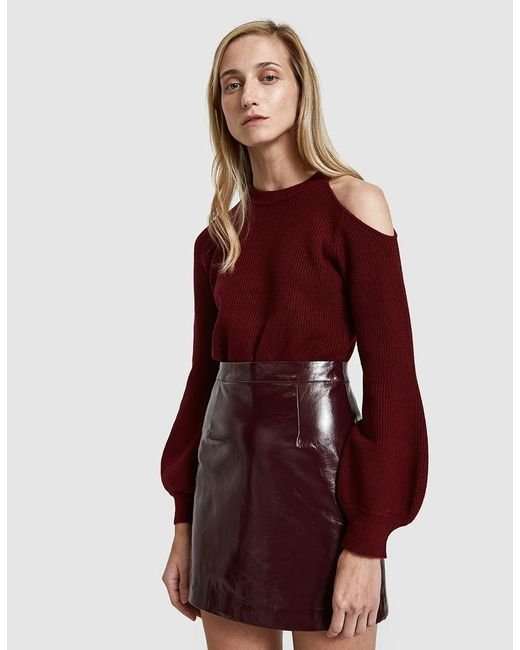 Stelen - Red Saskia Sweater In Wine - Lyst