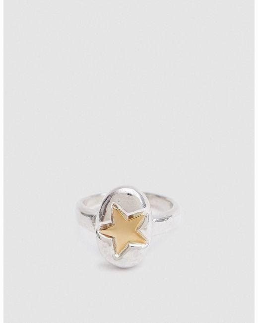 Open House | Metallic Star Ring In Bronze/silver | Lyst