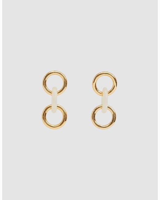 Lizzie Fortunato - White Triplet Link Earrings In Ivory - Lyst