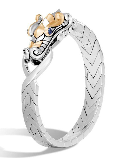 John Hardy | Metallic Men's Legends Naga Dragon Sterling Silver & 18k Gold Chain Bracelet | Lyst