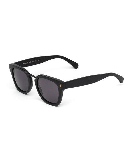 Illesteva - Black Positano Square Polarized Sunglasses - Lyst