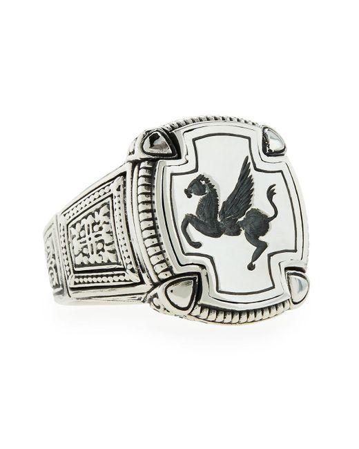 Konstantino - Metallic Men's Pegasus Square Ring for Men - Lyst
