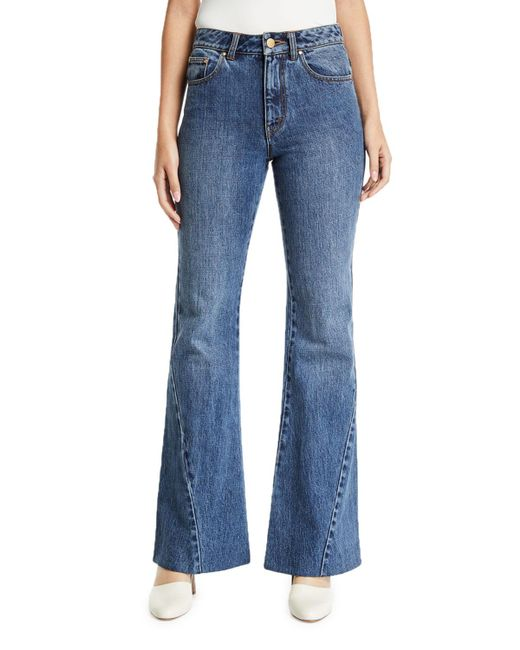 Co. Blue Bias-seam Flared Jeans