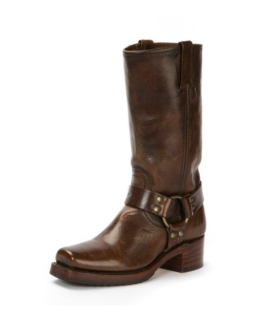Frye - Brown Heirloom Harness Tall Distressed Boot - Lyst