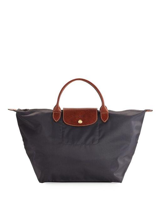 Longchamp - Red Le Pliage Medium Handbag - Lyst