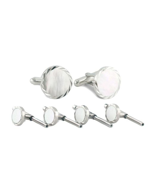 David Donahue | Metallic Mother-of-pearl Cuff Links & Studs Set | Lyst