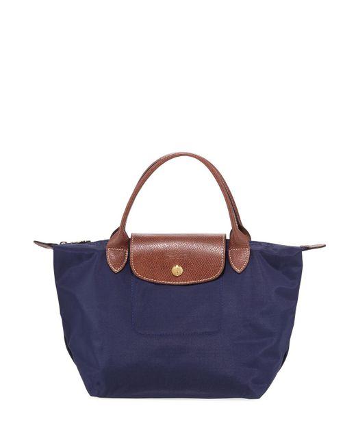 Longchamp - Blue Le Pliage Small Handbag - Lyst