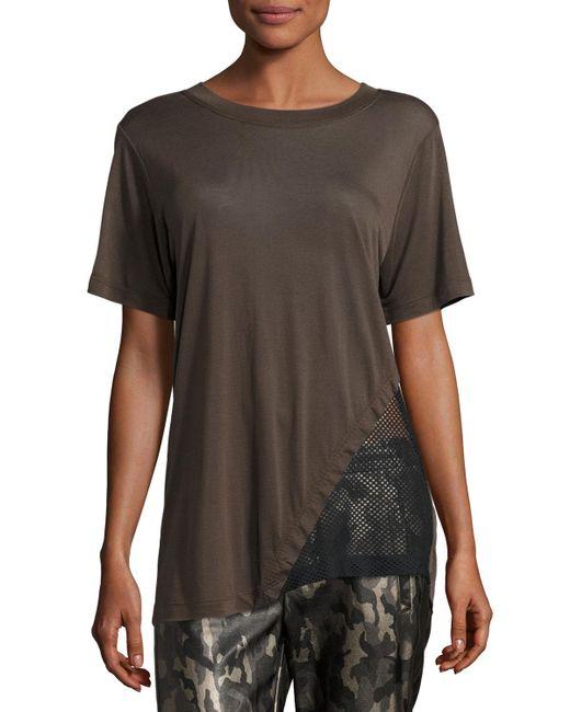Koral Activewear | Black Atomic Jersey & Mesh Athletic Tunic | Lyst