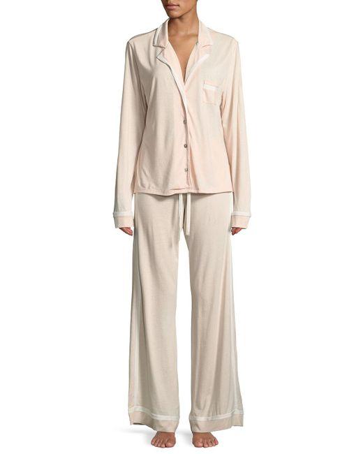 Cosabella - White Bella Contrast-trim Pajama Set - Lyst