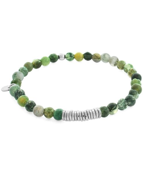 Tateossian - Green Silver Discs Bracelet for Men - Lyst