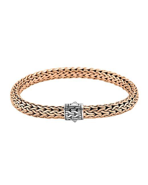 John Hardy | Metallic Classic Bronze Men's Woven Chain Bracelet for Men | Lyst
