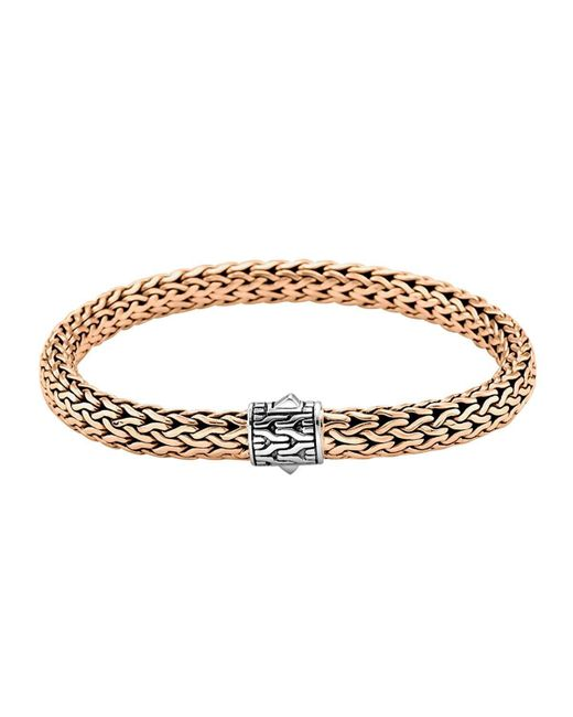 John Hardy | Metallic Classic Bronze Men's Woven Chain Bracelet for Men | Lyst