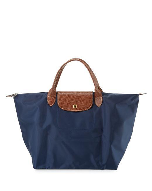 Longchamp | Blue Le Pliage Medium Handbag | Lyst