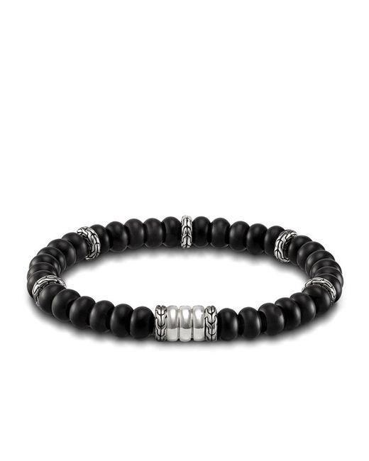 John Hardy - Black Batu Bedeg Men's Beaded Bracelet for Men - Lyst