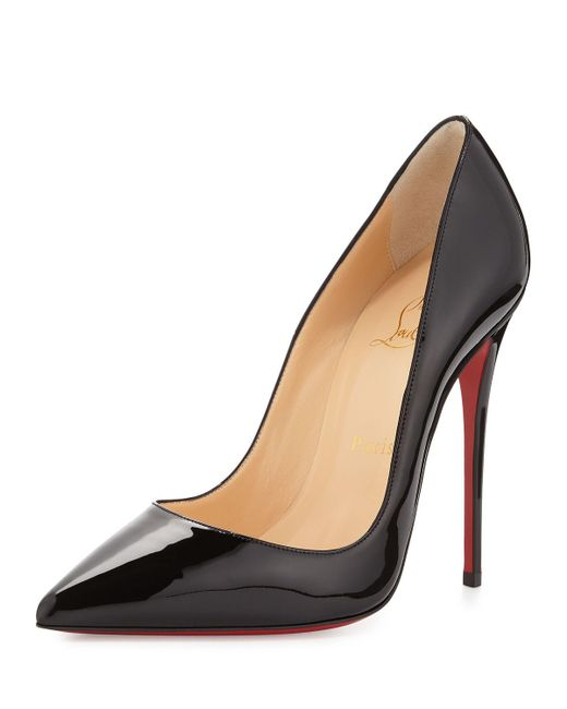 Christian Louboutin - Black So Kate Patent Red Sole Pump - Lyst
