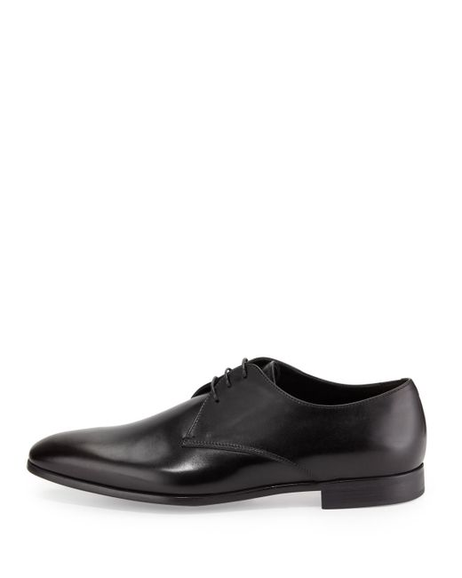 Giorgio armani Leather Lace-up Dress Shoes in Black for ...