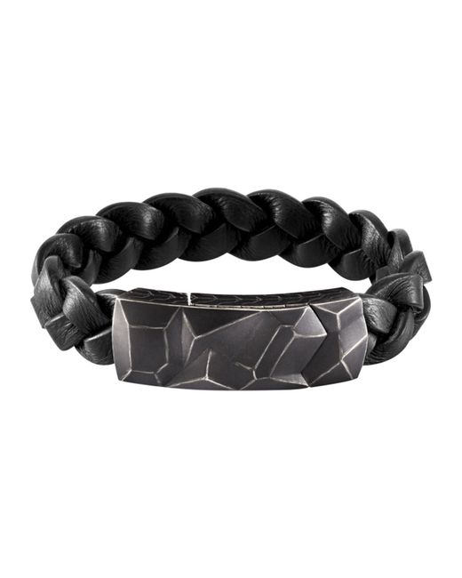 John Hardy | Black Men's Classic Chain Station Bracelet With Leather Strap for Men | Lyst