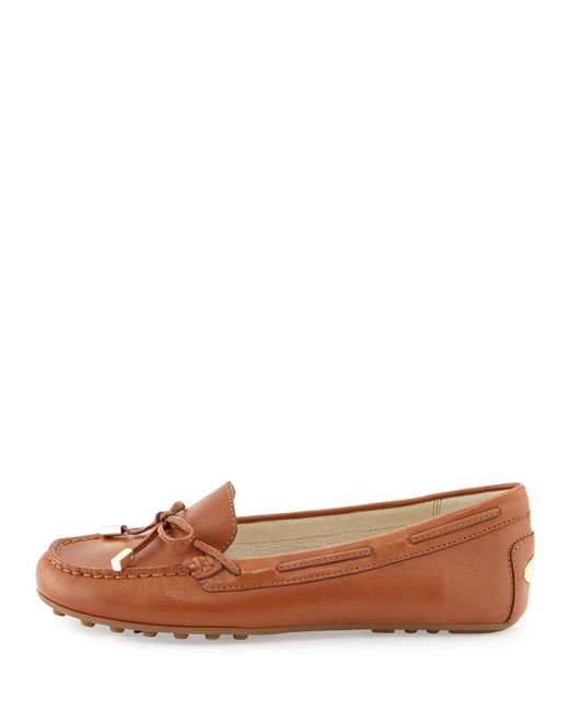 MICHAEL Michael Kors   Brown 'daisy' Loafer   Lyst
