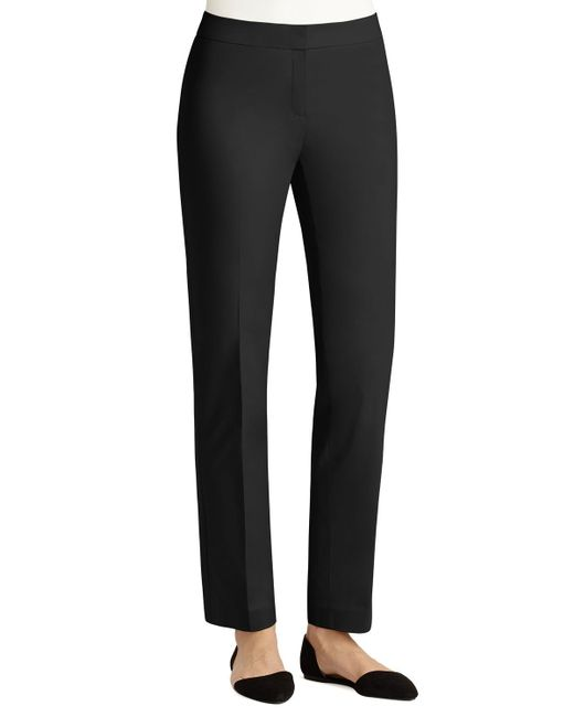 Lafayette 148 New York | Black Crosby Metropolitan Straight-leg Pants | Lyst