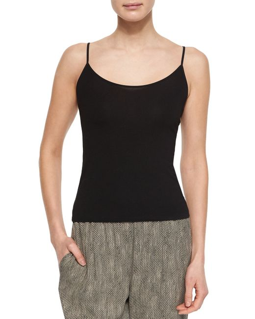 Eileen Fisher   Black Classic Jersey Camisole   Lyst