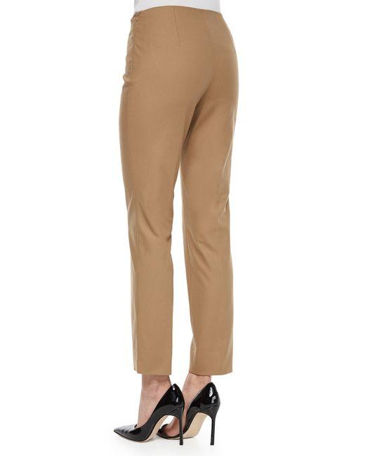 Lafayette 148 New York   Black Stanton Straight-leg Ankle Pants   Lyst