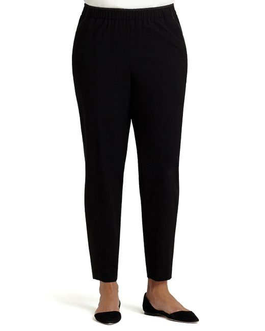 Lafayette 148 New York | Black Track Pants W/ Piping | Lyst