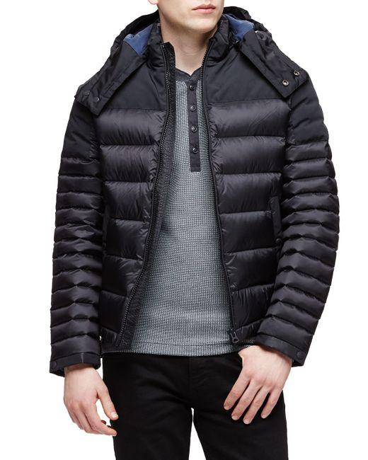 Burberry Brit Farrier Lightweight Down Jacket In Black For