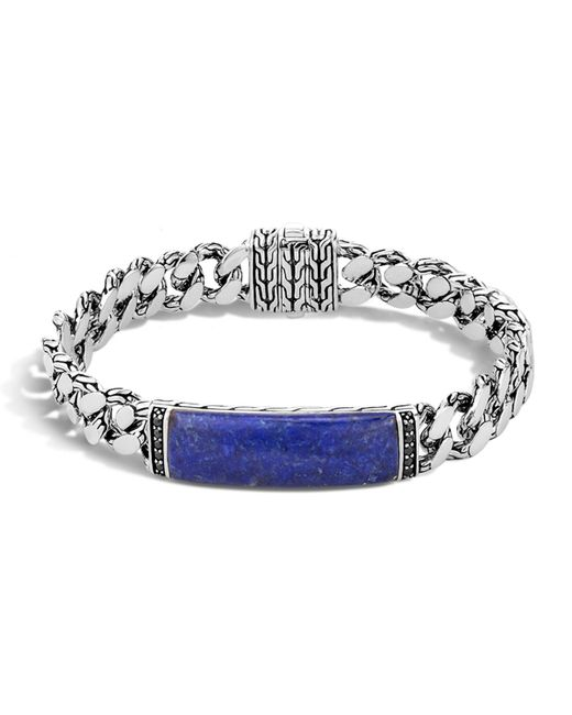 John Hardy | Blue Gourmette Classic Chain Men's Bracelet With Lapis for Men | Lyst
