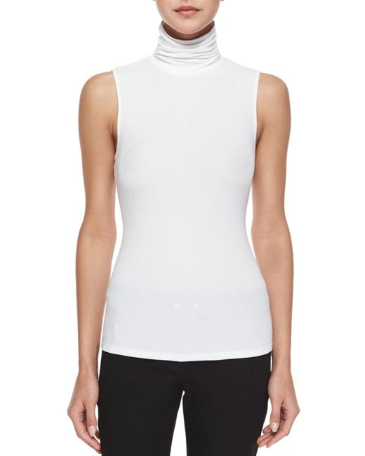 Theory | White Wendel Sleeveless Knit Top | Lyst