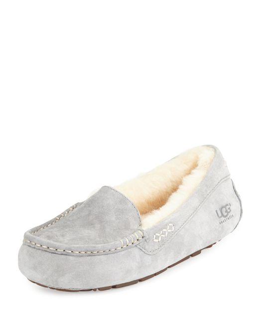 UGG | Gray Ansley Moccasin Slipper | Lyst