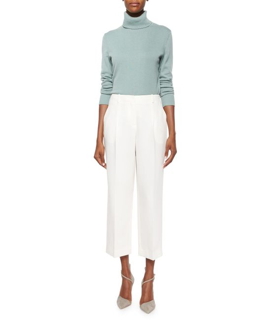 Lafayette 148 New York | White Cropped Straight-leg Pants | Lyst