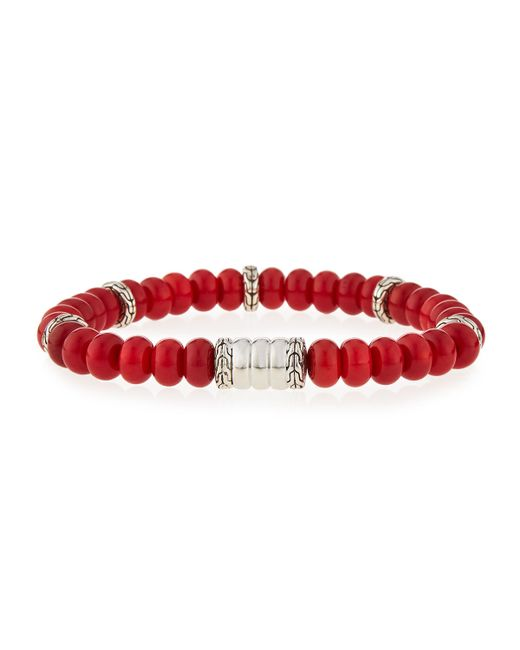 John Hardy | Red Men's Batu Bedeg Coral Beaded Bracelet for Men | Lyst