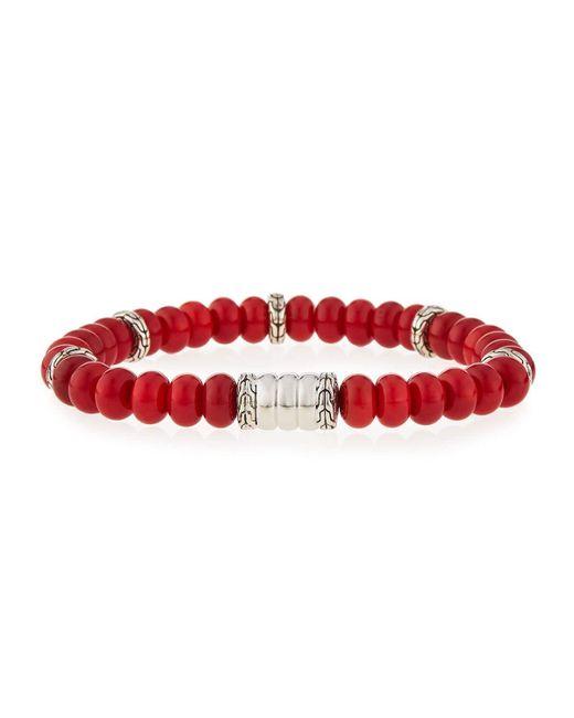 John Hardy   Red Men's Batu Bedeg Coral Beaded Bracelet for Men   Lyst