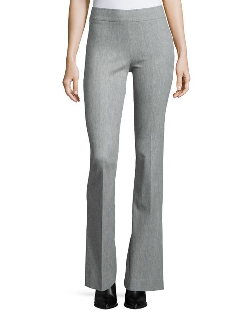Avenue Montaigne | Gray Bellini Stretch Flannel Flared Pants | Lyst