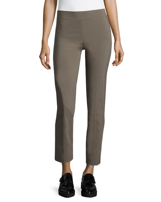 Avenue Montaigne | Brown Lili Slim Ankle Pants | Lyst