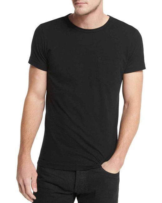 tom ford crewneck short sleeve t shirt in black for men lyst