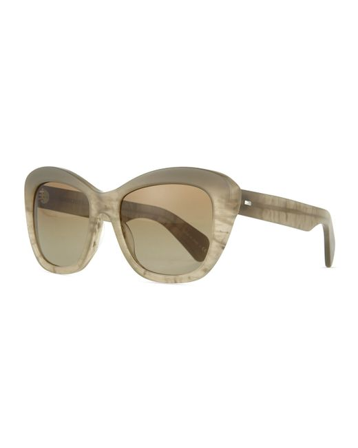 Oliver Peoples | Natural Emmy Universal Fit Cat-eye Sunglasses | Lyst
