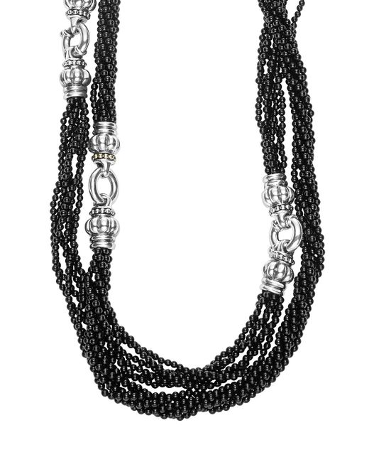Lagos | 'black Caviar' Beaded Necklace | Lyst