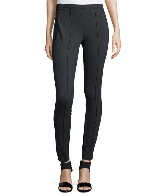 Lafayette 148 New York | Black Pintucked Skinny Pants | Lyst
