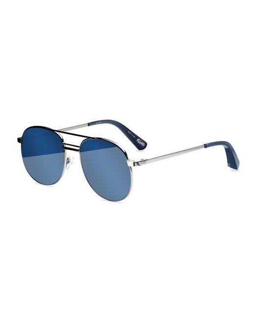 Elizabeth and James | Metallic Watts Aviator Metal Sunglasses | Lyst