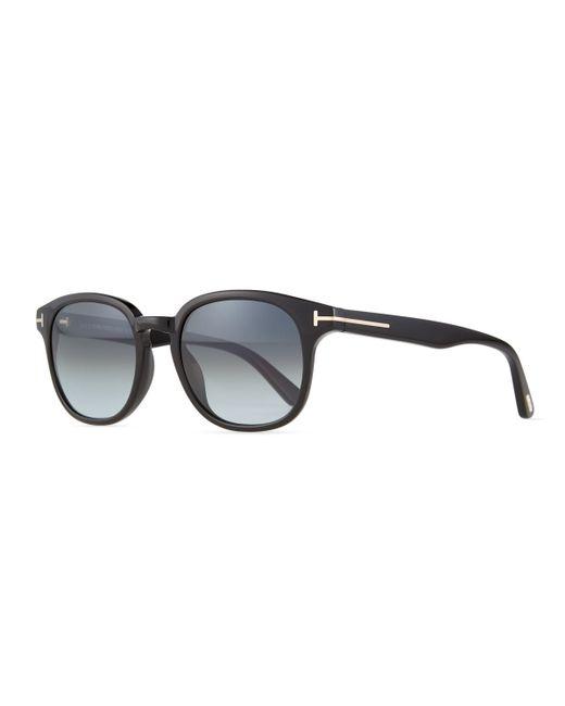 ec34cd2d3fc Tom ford Frank Shiny Acetate Sunglasses in Black