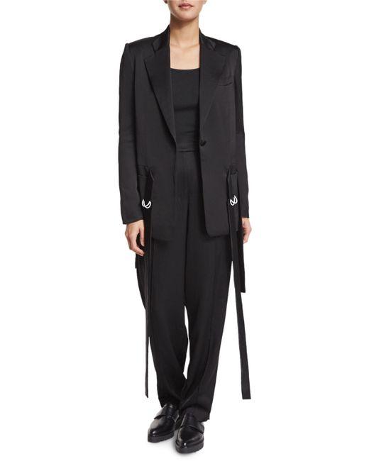 Edun | Black Notched-collar Waist-tie Jacket | Lyst