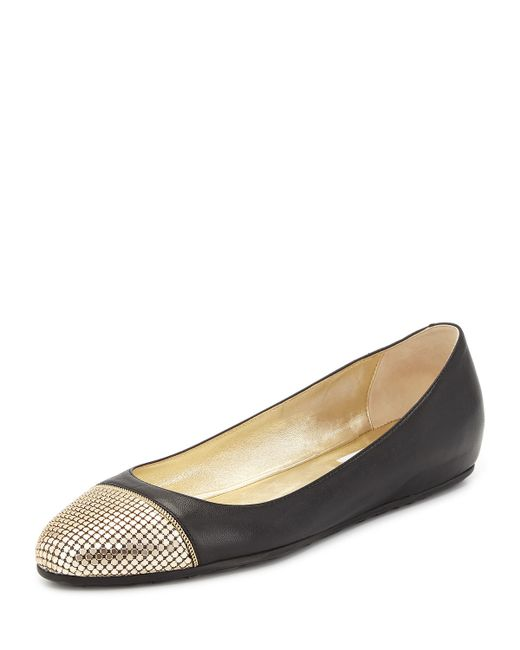 Jimmy Choo | Metallic - 'waine' Ballerinas - Women - Leather/rubber - 36 | Lyst