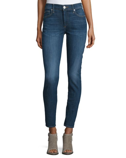 True Religion   Blue Halle Mid-rise Super Skinny Jeans   Lyst