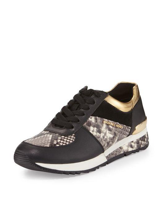 Michael Michael Kors Allie Mixed Media Trainer Sneaker In